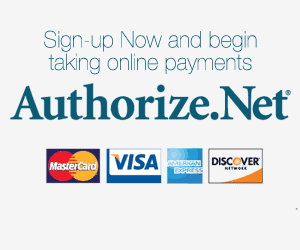Sign-up Now to Authorize.net and begin taking online payments